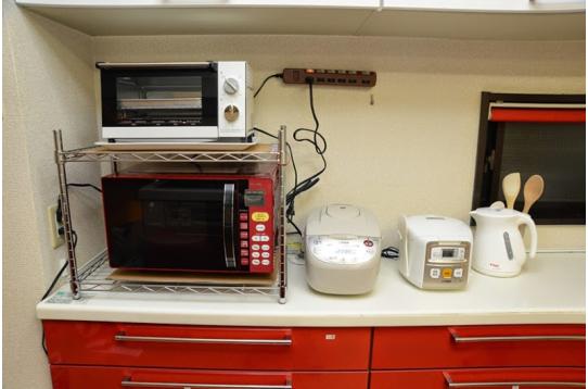 キッチン家電も揃っています。