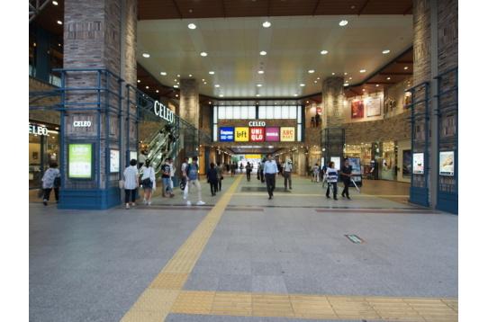 駅周りにお店が充実!