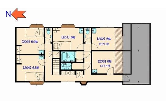 二階の間取図です。