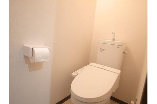新しいトイレできれいです。