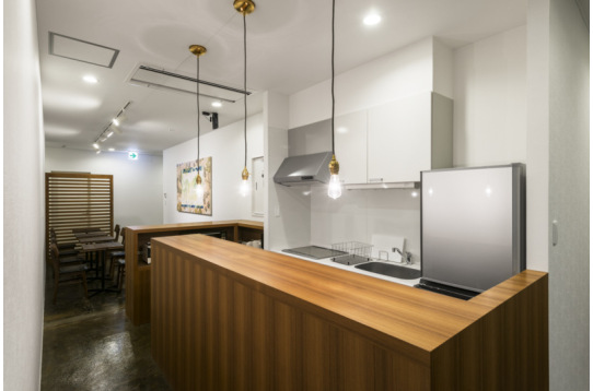 カフェスペースには、キッチンも