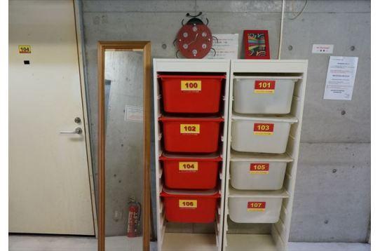 各居室用のボックス
