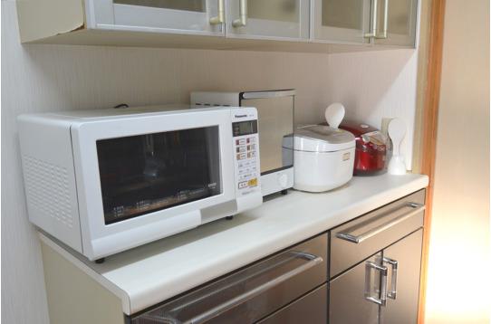 キッチン家電も充実しています。