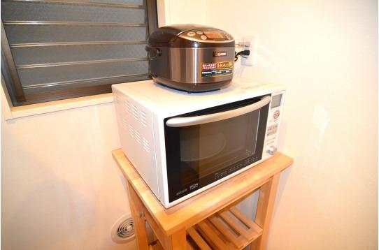 レンジ、炊飯器完備