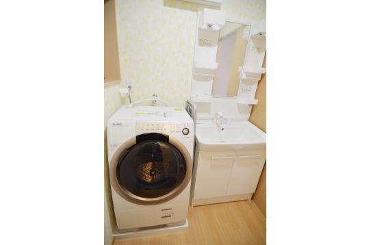 洗面所&ドラム式洗濯機!