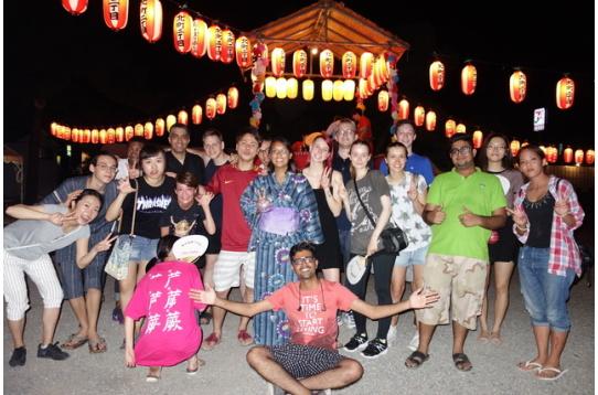 盆踊り、運動会など地域のお祭りにも参加しています!