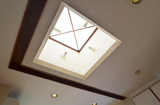 天井も高く開放感抜群です