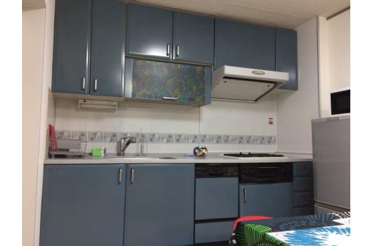 システムキッチン。食器洗い機も付いています。
