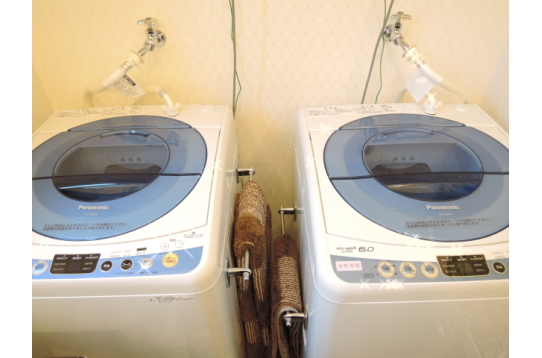 洗濯機は2台、無料でご使用いただけます