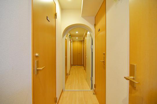 廊下のアーチ部分がオシャレです。