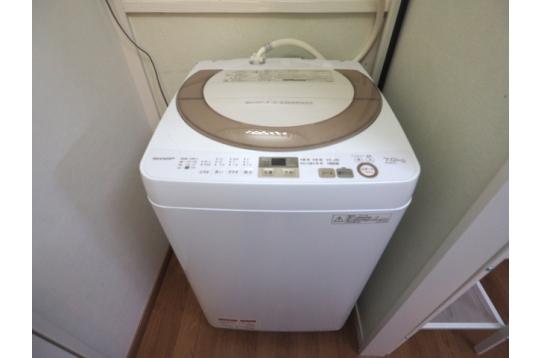 7キロ大容量洗濯機は無料で使えます。