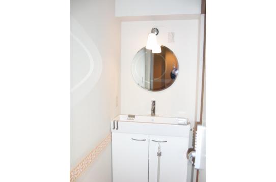 各お部屋に完備されてる洗面化粧台