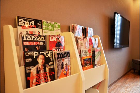 最新の月刊誌や実用書を無料でご用意