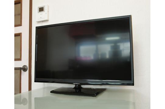大型テレビの様子♪各部屋でもテレビは見れますよ