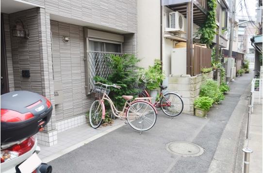 自転車も置けます!