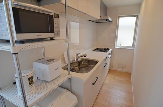 キッチンスペースも広々とお使い頂けます