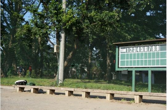 公園隣接グラウンドと野球点数表