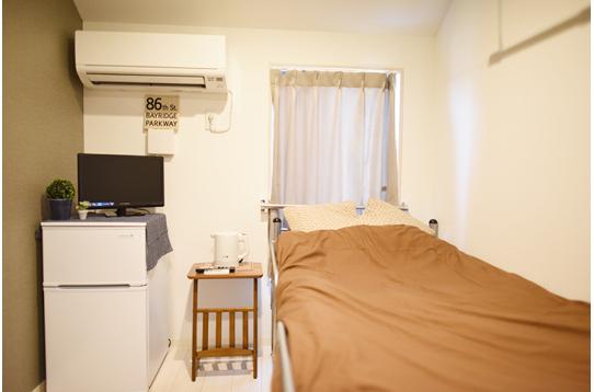 冷蔵庫、テレビ、電気ポット、エアコン備付け