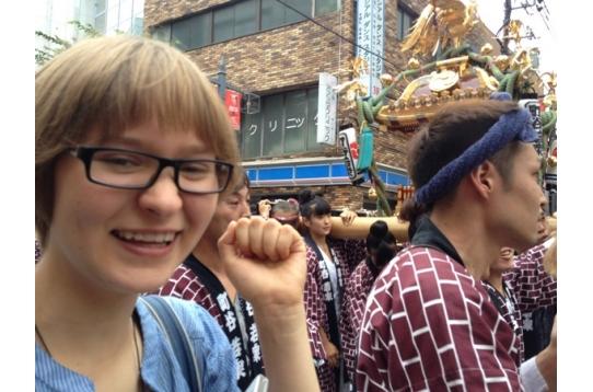 ●留学生の入居者様も地元の夏祭りに参加!