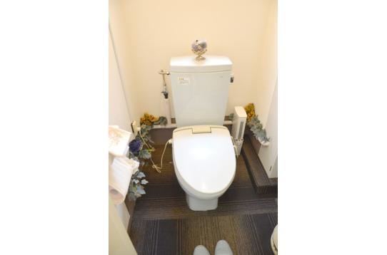 上品なトイレです。