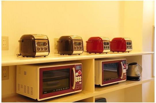 キッチン家電も充実です!