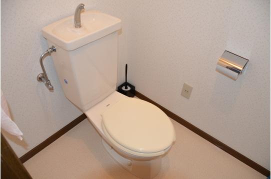 清潔感あふれるトイレ!