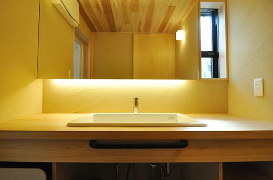 洗面スペースも女性に嬉しいゆったり設計
