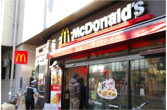 駅前にはマクドナルド