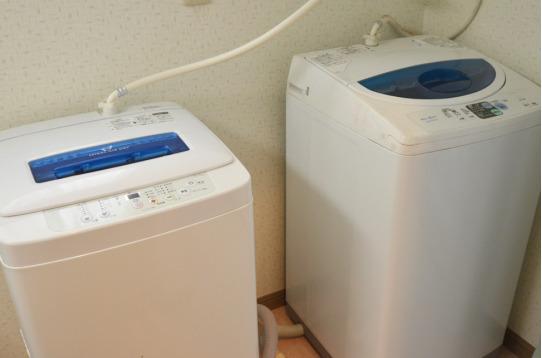 無料洗濯機は2台!