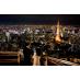 東京タワーを丸見え、綺麗な夜景。