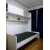 E個室6帖部屋 AC・照明・タンス・机・ベット。