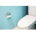 トイレは青基調の壁紙☆