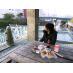 近くの河川でピクニック♪