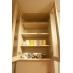 食器棚。可愛いフランフランのマグは共用です