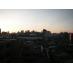 共用バルコニーからの夕日の眺め。