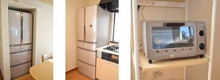 冷蔵庫とトースター