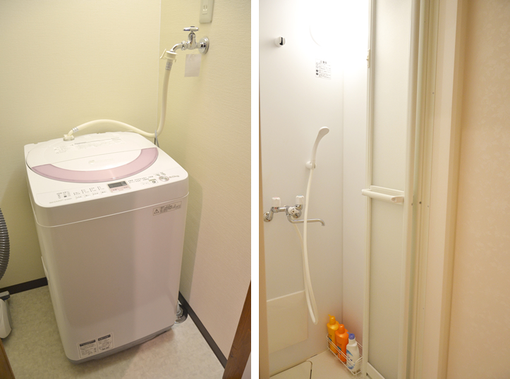 洗濯機とシャワールーム